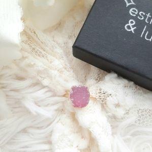 Estrella & Luna Raw Druzy Crystal Ring